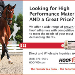 Print ad for equine product