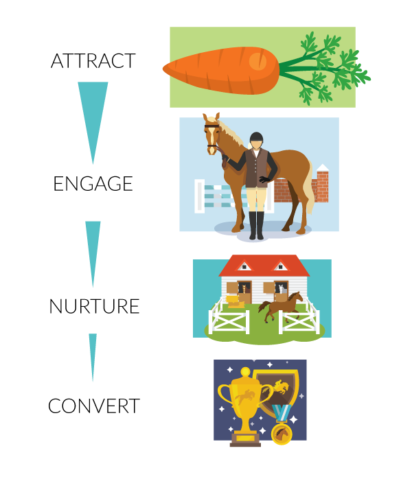equestrian marketing funnel